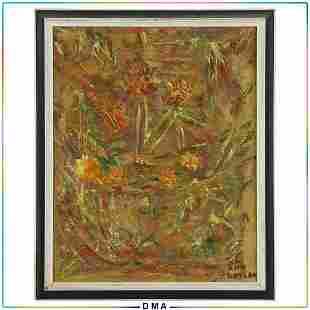 Ann Gaylon, Impressionism Vintage Floral Still Life O/c