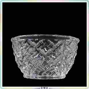 TIFFANY & CO Crystal Glass Bowl Signed and with Label