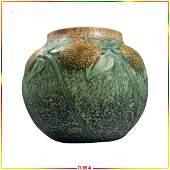 Roseville Sunflower Vase with Inner Hairline AS-IS