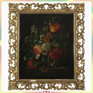 Harold Clayton 1896-1979, Oil/c Still Life of Flowers
