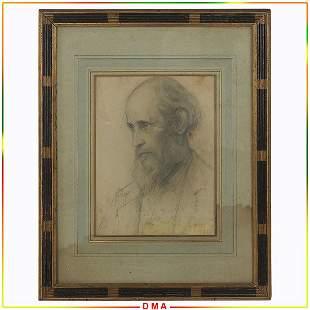 Thomas Eakins(1844-1916) 19thC. American Pencil Drawing