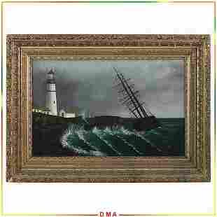 Martin Johnson Heade 1819-1904 attributed, Oil Seascape
