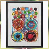 Atsuko Tanaka(Japanese 1932-2005); Modernist Watercolor