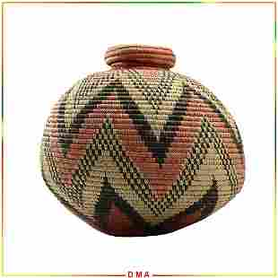 Melon Shape Zuni Basket with Cover - Quality