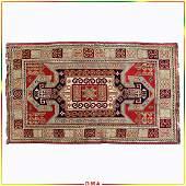 Oriental Caucasian Geometric Medallion Wool Area Rug