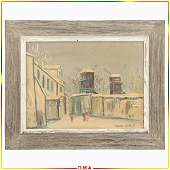 Maurice Utrillo, Vintage Lithograph on Thick Board