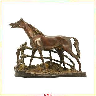 Pierre Jules Mene Bronze Horse Sculpture - Signed.