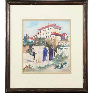 Hepler, Watercolor Painting, Latin American Monastery