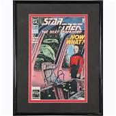 Patrick Stewart Autographed Star Trek Comic with COA
