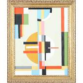 Steven Jennis, American Geometric Abstract Oil Painting