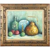Mid-Century Modern Still Life Oil on Canvas Painting