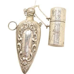 [2] .925 Sterling Silver Fancy Snuff Bottles Pendants