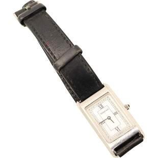 Tiffany & Co Stainless Steel Tank Wristwatch