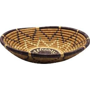 African Hand Woven Zumi  Basket Bowl