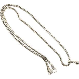.925 Sterling Silver Italy Mesh Link Necklace