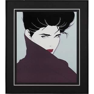Patrick Nagel, Framed Art Print Portrait Fashion Woman