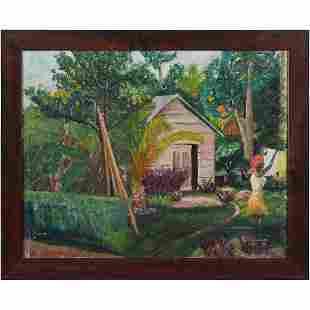 V Cummings, Vintage Oil/c South American Life Landscape