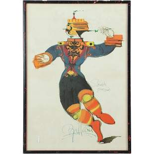 Bjorn Wiinblad, Colored Lithograph Signed in Plate