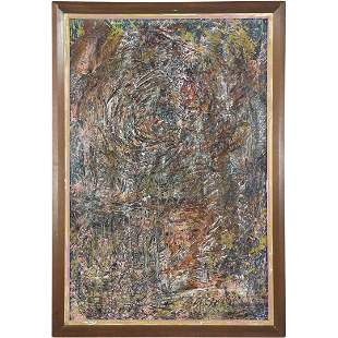 Mark Tobey 1890-1976, Abstract Textured Oil Painting