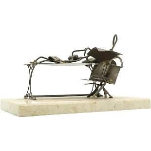 La Colla, Mid-Century Metal Psychiatrist Sculpture