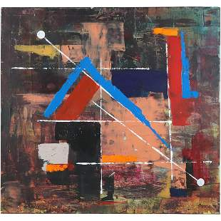 """St. Tamara, Oil/c Geometric Abstract titled """"Clearing"""""""