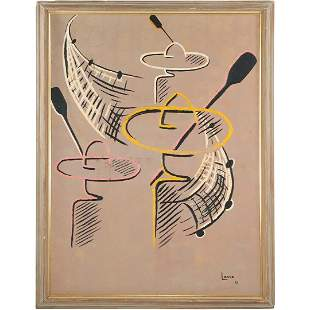 Longo 1961, Oil/c Latin American Abstract Composition