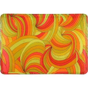 SiLite, 1960s Groovy Pop Art Serving Tray