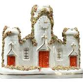 Staffordshire Porcelain White Church Statue