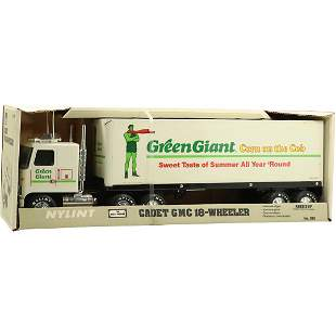 """Nylint Steel Toy Truck in Box """"Green Giant"""" Advertising"""
