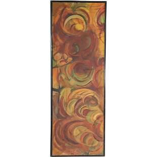 Haskin-Loebel 1961, Oil/c Swirling Circles Abstract
