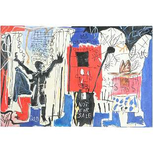 Jean-Michel Basquiat(after); Oil and Mixed Media