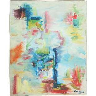 Califano; 20thC. Modernist Oil Abstract Composition