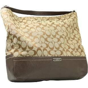 COACH Brown Tan Signature Handbag - Clean
