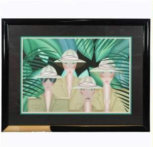 """Robin Morris, """"The Expedition"""" A/P Lithograph Serigraph"""