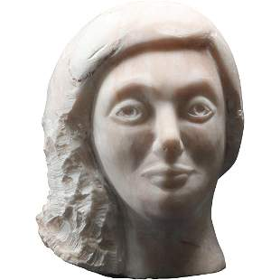 Philip Bogart, Mid-Century Woman Bust Marble Sculpture