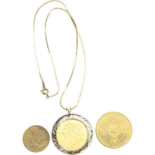 """3 Pc. Pope Coin, Catherdal, Cailornia 'Copy"""" Gold Coin"""