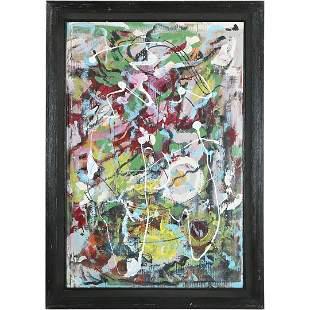 Zumba, Bucks County Pa Artist 20th C. Abstract Painting