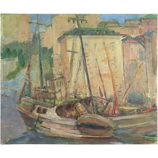 Wolfson 1956, Oil/b Fishing Boat in Italian Harbor