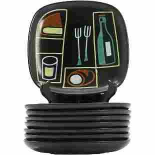 Eight(8) Mid-Century Modern Italian Pottery Dishes