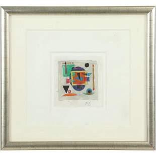 Rolph Scarlett 1889-1984, Geometric Abstract Watercolor