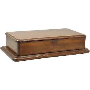 """Civil War Era Walnut """"Hope"""" Box for Letters, Inlaid"""