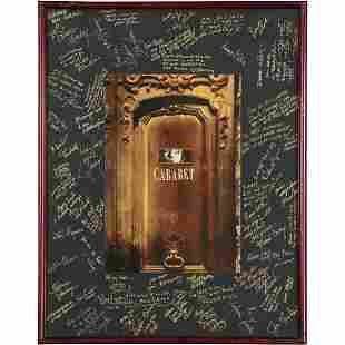 Cabaret is a 1966 Musical, Poster Autographs Performers