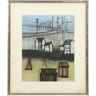 Bernard Buffet 1928-1999, Vintage Lithograph, Farm