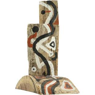 20th C. Wood Decorated Sculpture by Zumba, Bucks County