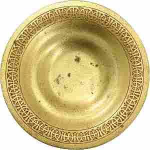 TIFFANY STUDIOS Card Tray. Gilt-Bronze Dore #1707