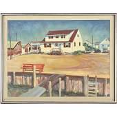 """Ted Kleckner 1970, Oil Painting """"Summer Home"""""""
