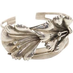 Sterling Silver Calla Lily Cuff Bracelet
