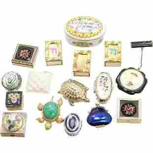 16 Assorted Vanity Pill Boxes, Trinket Boxes - Variety