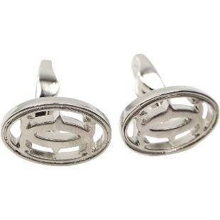 CARTIER Silver Tone Cuff Links