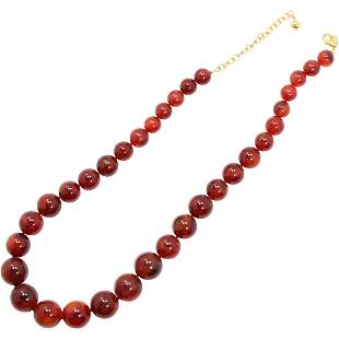 Joan Rivers Amber Lucite Necklace